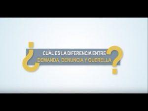 Noticiero Judicial: Cápsula Educativa - ¿Cuál es la diferencia entre demanda, denuncia y querella?