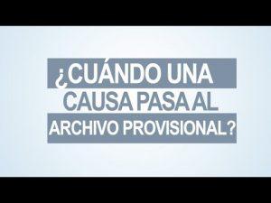 Noticiero Judicial: Cápsula Educativa - ¿Cuándo una causa pasa al archivo provisional?