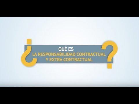 ¿Qué es la responsabilidad contractual y extra contractual?