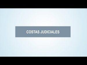 Noticiero Judicial: Cápsula Educativa - ¿Qué son las costas judiciales?