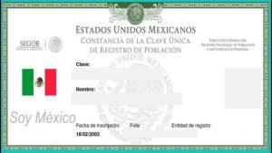CURP (Clave Única de Registro de Población)