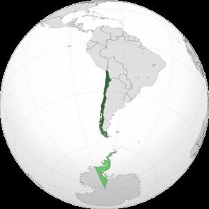 Ubicación de Chile en el mapa mundial