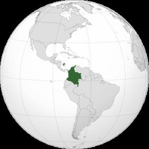 Ubicación de colombia en el mapa mundial