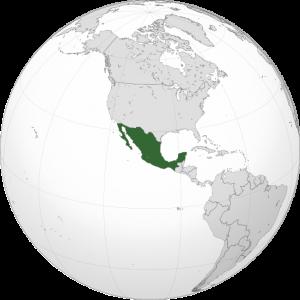 ubicación de México en el mapa mundial