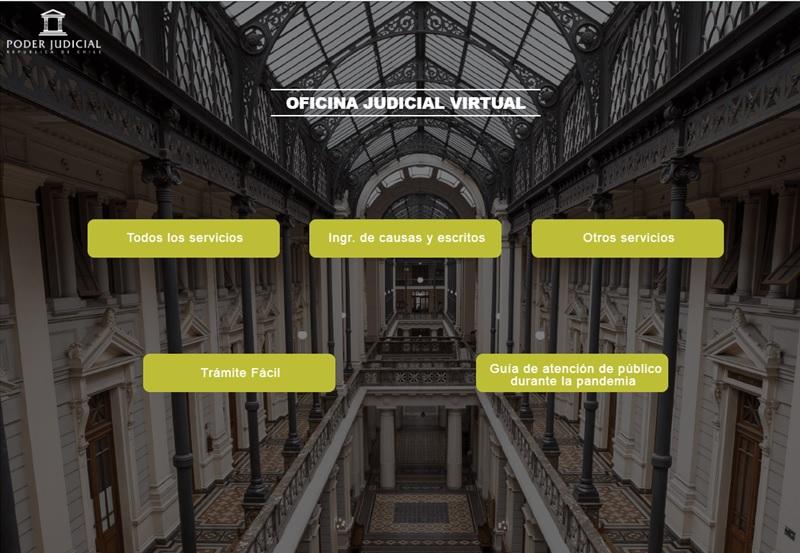 web de la oficina judicial virtual del poder judicial de chile