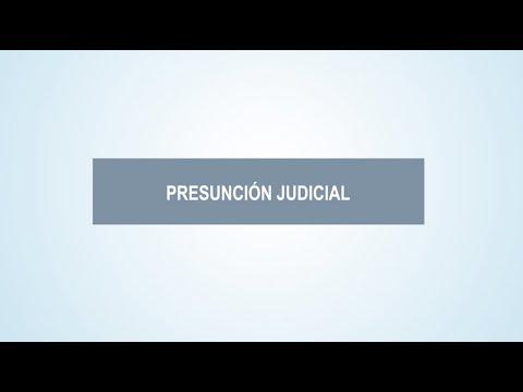 La presunción judicial