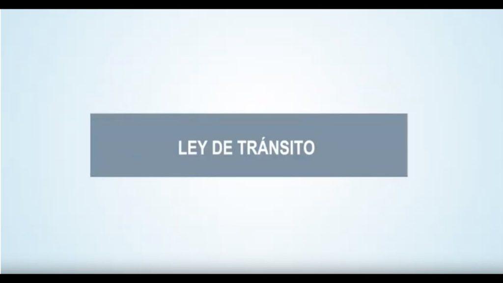 Nuevos sistemas de transporte en la Ley de Tránsito