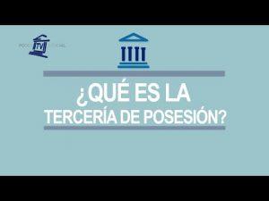 Noticiero Judicial: Cápsula Educativa - Tercería de posesión